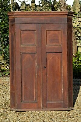 Antique Georgian/Victorian Mahogany with inlays Corner Cupboard