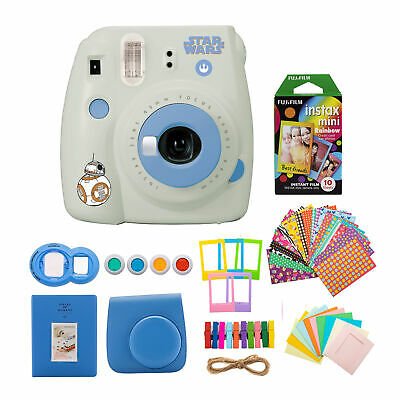 Fujifilm instax Mini 9 Star Wars Edition Instant Camera with Rainbow Film Bundle