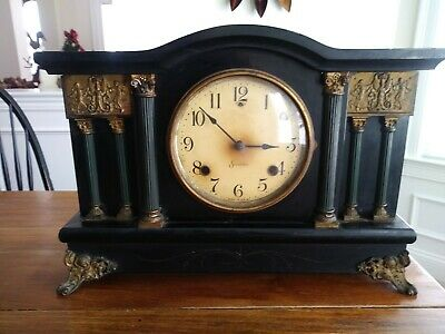 Nice Antique Sessions 8 Day Mantle Clock