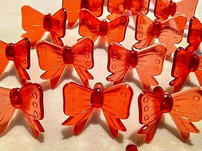 20 Vintage Red Bow Lights  bulbs w/ Detail for Ceramic Christmas Tree *RARE*