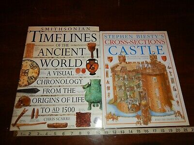 Cross-Sections Castle & Smithsonian Timelines of the Ancient World Books HC/DJ