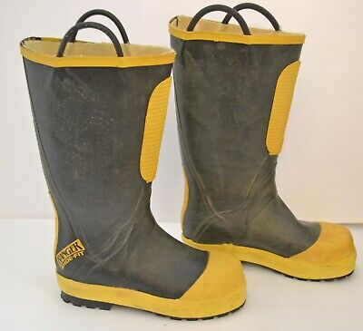 PRO Leather Fire Boots Model 5555 NFPA 1971 2013 Edition Size 15.5 M