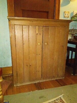 Antique Primitive Wooden Wall Cabinet With Beautiful Patina Farmhouse Salvage