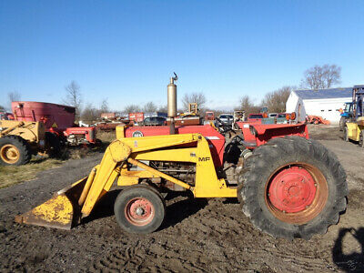 1972 Massey Ferguson 165 Tractor, MF Front Loader, 8 Speed, Diesel, 1,620 Hrs