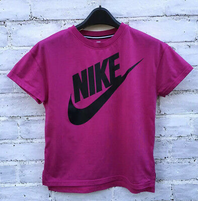 NIKE Girls Hot Pink T-Shirt Top Size 13-15 YRS 156-166cm Worn Once