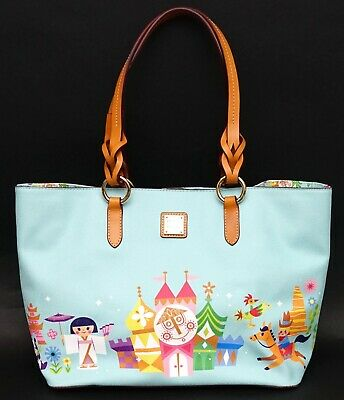New Disney Parks Dooney & Bourke It's A Small World 2019 Blue Tote Bag Purse