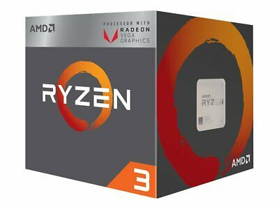 AMD Ryzen 3 2200G AMD R3 3.7 GHz AM4 3.5/3.7GHz 2MB L2 Cache YD2200C5FBBOX