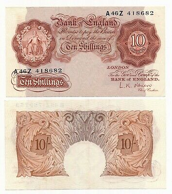 Bank of England 10 Shillings O'Brien ND (1955-60) P. 368c gEF Note