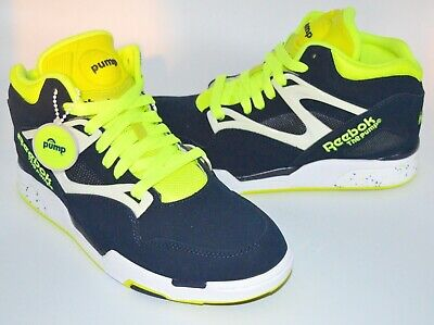 Reebok Twilight Zone The Pump WhiteNeon YellowBlack sz 8 wbox
