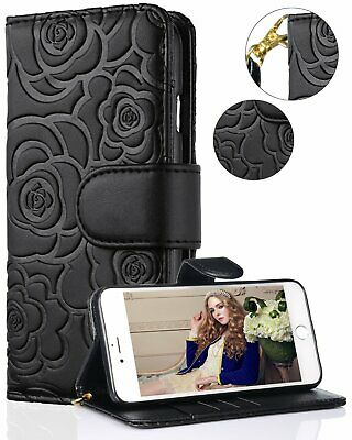 iPhone Xs Max Case iPhone Xs Max Flip Wallet Leather Case Magnetic Cover Black