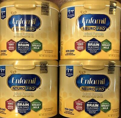 Lot Of 3 New Tubs - Enfamil NeuroPro Infant Baby Formula, 20.7 Oz - See Pictures