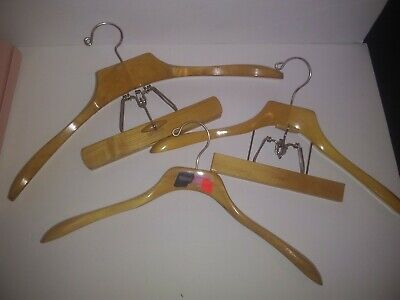 Vintage Setwell, Presswell, and Sears Wooden Suit Hangers w/ Swivel Hooks