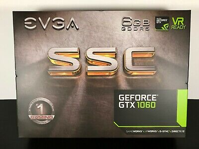 EVGA Nvidia Geforce GTX 1060 6gb SSC GPU