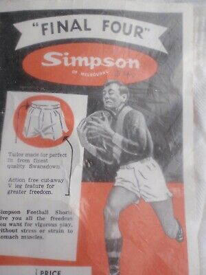 """Simpson of Melbourne  """"Football Shorts""""  c 1950's"""