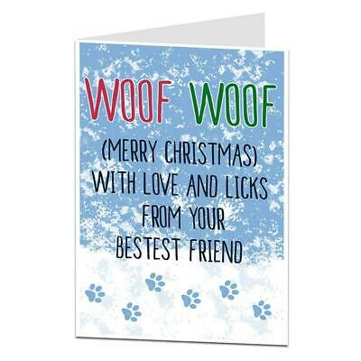Funny Xmas Cards from the dog Christmas card pet fur baby poo sh*t picker XM59