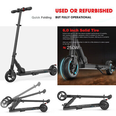 Adult Kids Electric E-Scooter Commuter Folding Kick Push Scooter Used Black