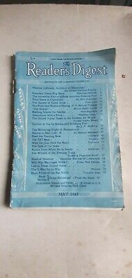 Old Copy The Readers Digest May 1943