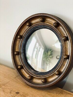 Stunning Little 19Th Century Convex Mirror Victorian Georgian Regency Antique
