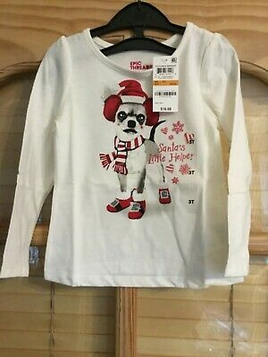 Brand New With Tags Girl Epic Threads Christmas Top Age 3