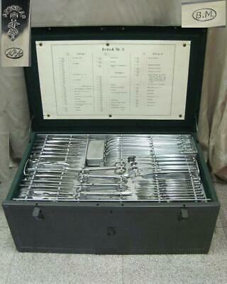 Wwii German Medical Complete Surgical Instruments Set Aesculap Very Rare