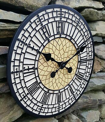 "Garden Wall Clock Outdoor indoor 11"" Station Wall Clock Westminster Big Ben"
