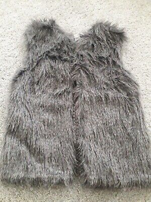 Girls Faux Fur Gilet, NWT, Size 6-7 Years