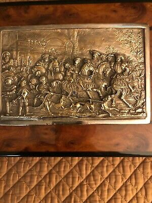 Henryk Winograd Sterling Silver Battle Of Sheffield Repousse Large Plaque
