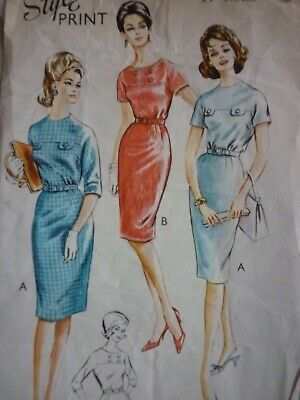 Vintage 1960'S Style Dresses With Kimono Sleeves Sewing Pattern