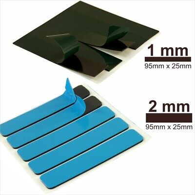 Car Van Number Plate Sticky Pads Double Sided Adhesive Fixings 1-2mm Thick Tape