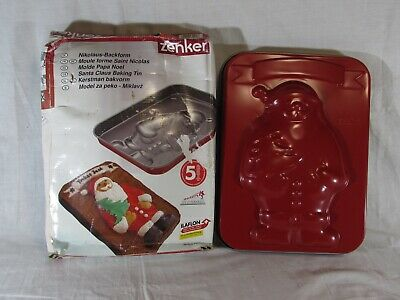 ZENKER Santa Claus Christmas Cake Baking Tin Mould Boxed Festive