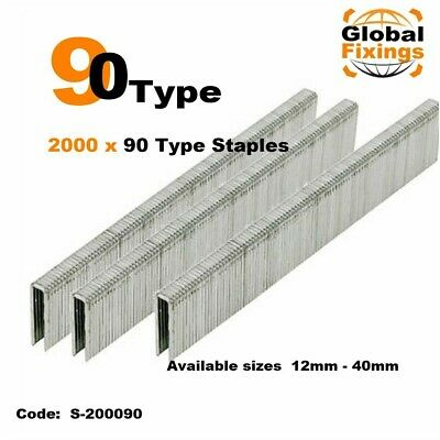 2000 x 90 Type Staples - Narrow crown 001