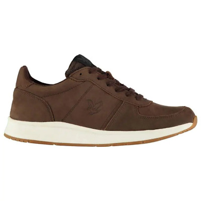Lyle and Scott Speedie Leather Trainers Mens UK 10 REF 2446*