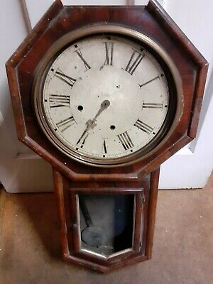 American antique wall clock