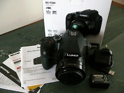 Panasonic Lumix DC-FZ82 Camera Black 18.1MP 60x Zoom 3.0LCD FHD 20mm DC Vario
