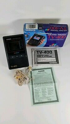 Casio LCD Pocket Color Handheld Portable TV Television VHF UHF TV-400