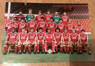 "Liverpool FC 1986-87 Squad Photo 10x8"" Signed By Lawrenson"