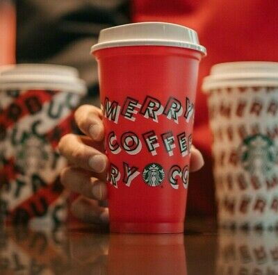 Brand New Starbucks Holiday Christmas 2019 Red Reusable Cup w/ Lid