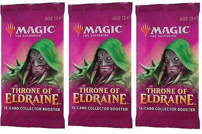 3 x COLLECTOR Booster Packs [ Throne of Eldraine ]
