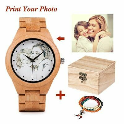 Photo Customize Wooden Watch Personal Creative Design Customers Laser Print Gift