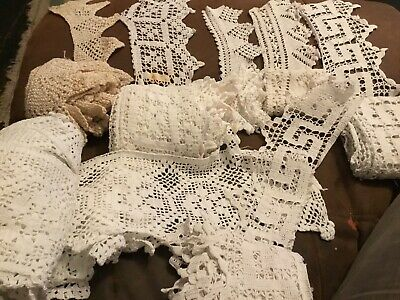 7 AmazingVintage Lengths  Handmade crochet White Various Length And Widths