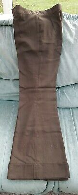 """VINTAGE MENS 1970s BROWN FLARED TROUSERS W.30"""" LEG 29.5"""""""