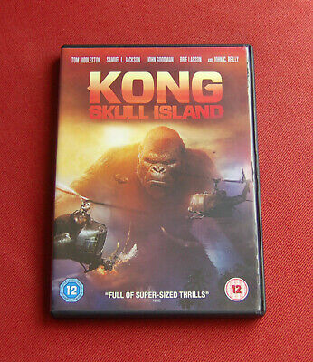 Kong Skull Island - Region 2 DVD - Tom Hiddleston, Samuel L Jackson, Brie Larson
