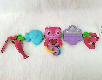 Bright Starts Take Along Baby Musical Carrier Activity Toy Bar Owl Bird B219