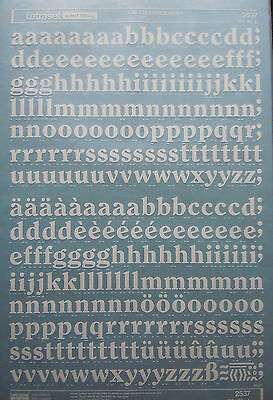 WHITE LETRASET Letter Transfers CLEARFACE HEAVY 48pt (#2537) NEW *RARE*