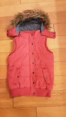 Fat Face Pink Girls / Small Ladies Gilet /Bodywarmer with hood. Age 12/13 years.