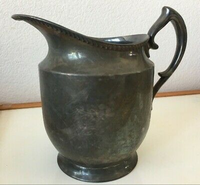 Antique Ornate Silver Plated Water Pitcher
