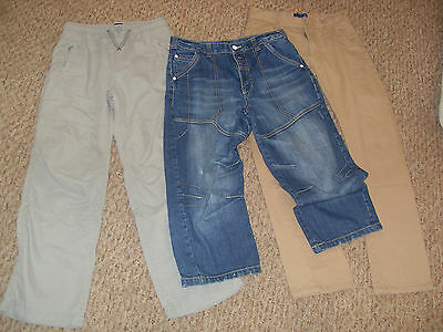 bundle 3 PAIRS BOYS CASUAL JEANS TROUSERS AGE 12 BLUE ZOO, GAPKIDS, GEORGE