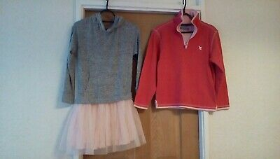 Pretty in pink! age 10 Next hoody dress & muddy puddles long sleeve cotton top