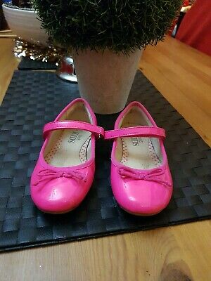 ❤ Lovely Girls Pink Dolly Shoes Party Size 10 ❤