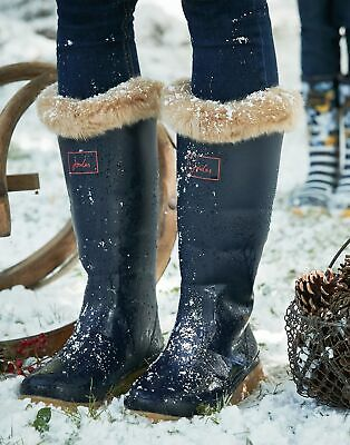 Joules Womens Downton Premium Wellies in MARINE NAVY Size Adult 7